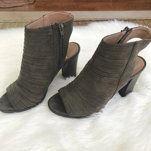 Report Olive peep toe heeled booties